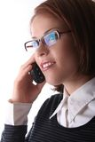 Female Business Lady on phone Stock Image
