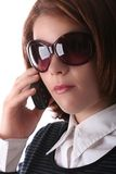 Female Business Lady on phone Royalty Free Stock Photo