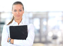 Female Business leader. Standing at office Royalty Free Stock Photo