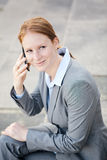 Female Business Leader Calling by Phone Royalty Free Stock Photo
