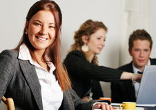 Female in business meeting Stock Photo