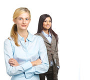 Female business team isolated on white Stock Images