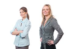 Female business team isolated on white Royalty Free Stock Image