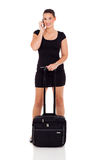 Female business traveler Stock Image