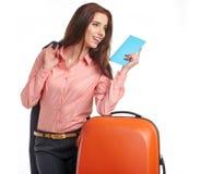 Female business traveller portrait Stock Images