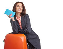 Female business traveller portrait Royalty Free Stock Images
