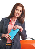 Female business traveller portrait Royalty Free Stock Photo