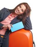 Female business traveller portrait Stock Photos