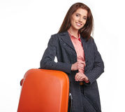 Female business traveller portrait Royalty Free Stock Photos