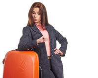 Female business traveller portrait Stock Photos