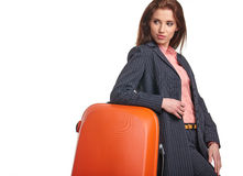 Female business traveller portrait Stock Photo