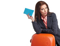 Female business traveller portrait Royalty Free Stock Image