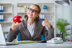 The female businesswoman boss accountant working in the office Royalty Free Stock Photography