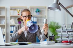 The female businesswoman boss accountant working in the office Royalty Free Stock Photo