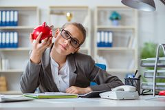 The female businesswoman boss accountant working in the office Royalty Free Stock Image