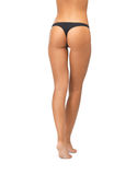 Female butt in black bikini panties Stock Photography