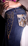 Female butt in jeans Royalty Free Stock Photos