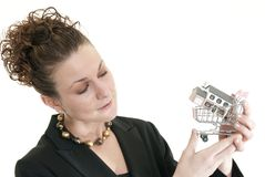 Female buying a home Royalty Free Stock Photo