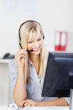 Female call center agent Royalty Free Stock Photos