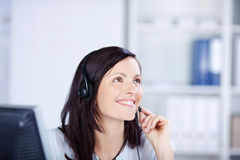 Female call center Royalty Free Stock Images