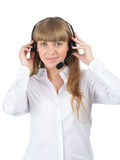Female call center employee Royalty Free Stock Photos