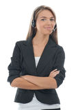 Female call center employee Royalty Free Stock Images