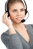 Female call center employee Stock Photography