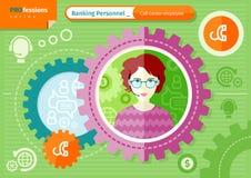Female call-center employee profession concept stock illustration