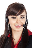 Female call center operator Royalty Free Stock Image