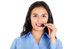 Female Call Center Operator Royalty Free Stock Photos