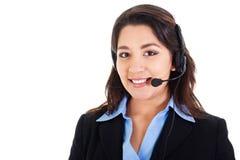 Female call center operator Royalty Free Stock Photo