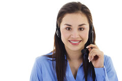 Female call center representative Stock Image