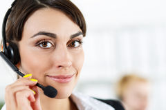 Female call center service operator Stock Image