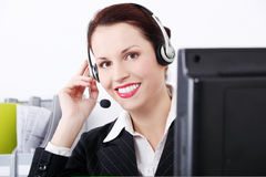 Female call centre employee Royalty Free Stock Photos