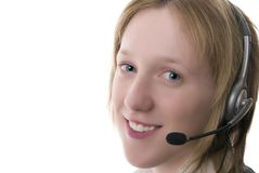 Female call centre operative Royalty Free Stock Image