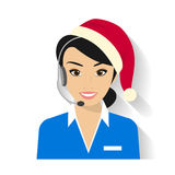 Female Call Centre Operator Stock Image