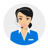 Female call centre operator Royalty Free Stock Images