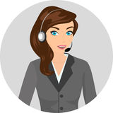 Female call centre operator - isolated Royalty Free Stock Photography