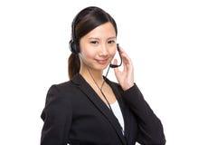 Female call centre operator Royalty Free Stock Photos