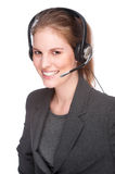 Female callcenter employee Royalty Free Stock Images