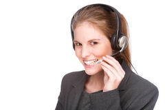 Female callcenter employee Royalty Free Stock Image