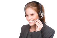 Female callcenter employee Royalty Free Stock Image
