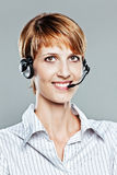 Female callcenter operator Royalty Free Stock Photo