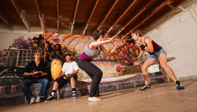 Female Capoeira Martial Artists Royalty Free Stock Photography