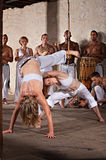Female Capoeria Performers Royalty Free Stock Photography