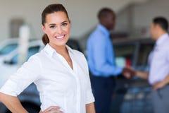 Female car dealer Stock Photo