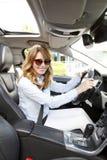 Female car driver Stock Image