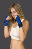 Female Cardio Boxing Royalty Free Stock Photography