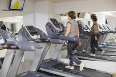 Female Cardio training. Photo with copy space for text Stock Photo
