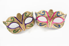 Female carnival masks isolated. On white background Royalty Free Stock Images